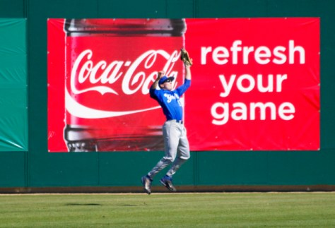 Cameron Newell refreshes his game with a leaping catch. (Photo: Shotgun Spratling)