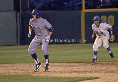 Connor Spencer leads off second base.