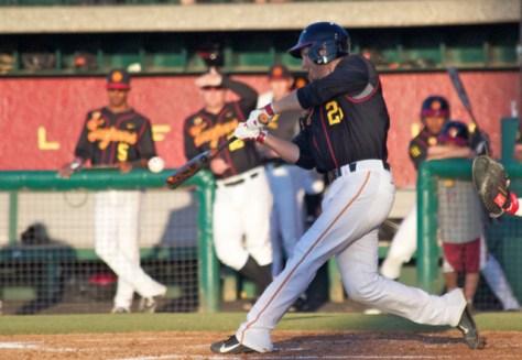 Blake Lacey swings. (Photo: Shotgun Spratling)
