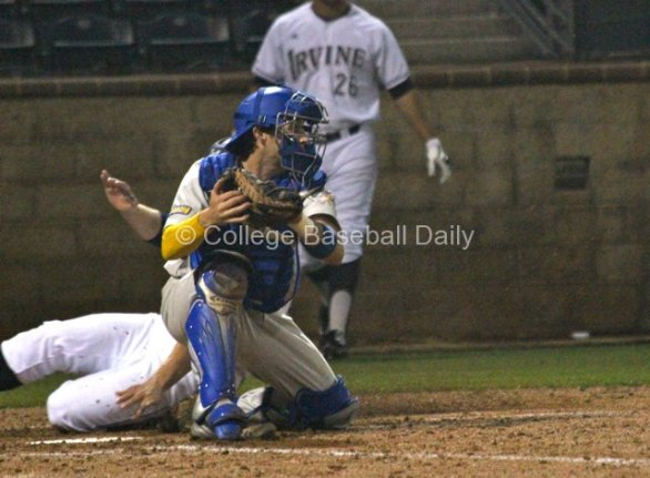 Ross Hough doesn't have time to apply the tag.