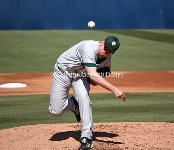 Blake Krahenbuhl throws a fastball