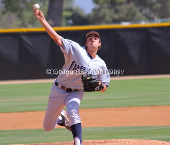 Andrew Thurman pitches.
