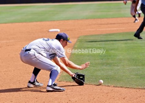 Taylor Sparks fields a grounder.