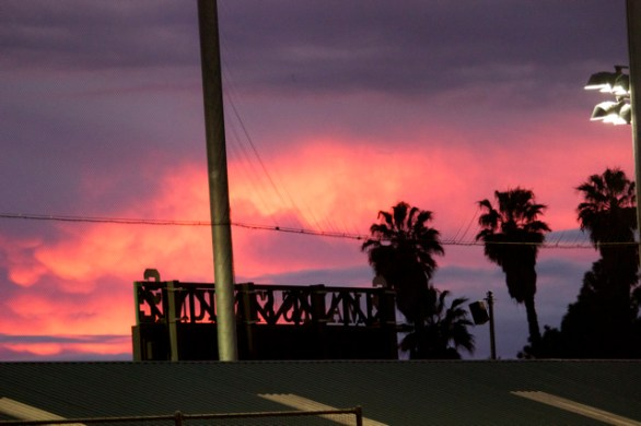 Sunset at Dedeaux Field.