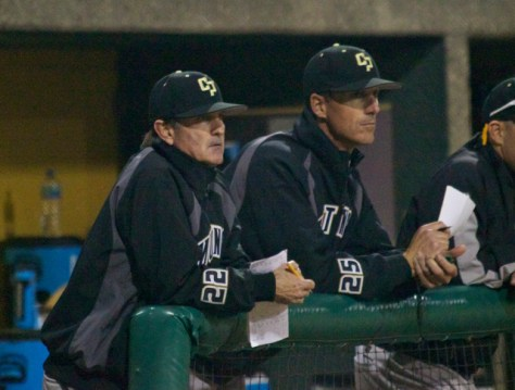 Larry Lee stoically watches the 16-0 thrashing.