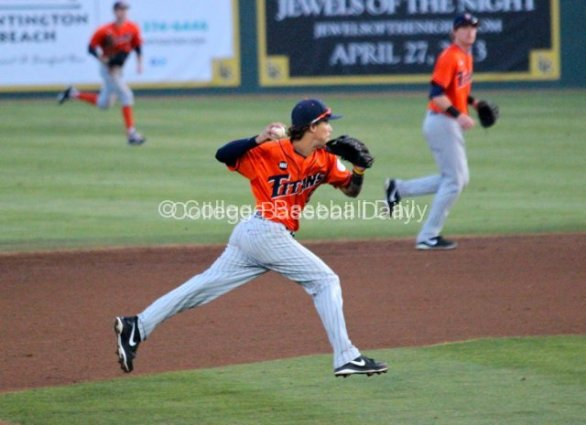 Richy Pedroza makes a play on a slow roller.