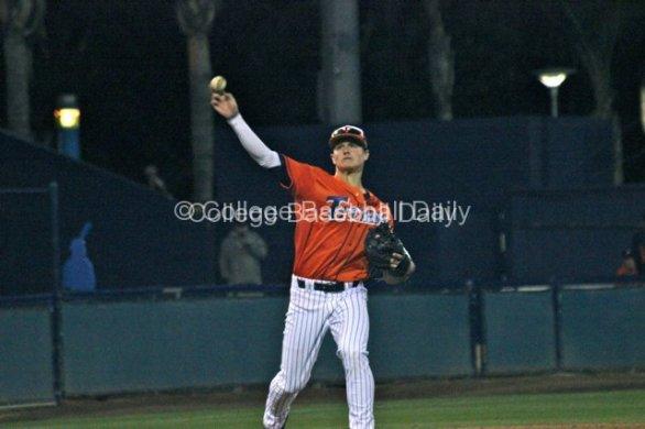 Matt Chapman throws across the diamond.