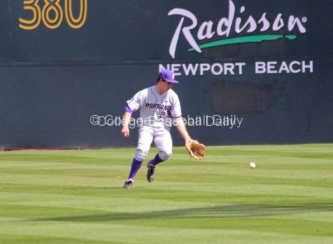 Ryan Barr drops an easy fly ball.