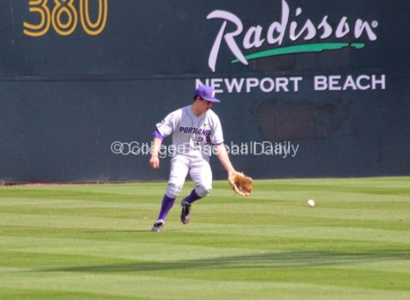 Ryan Barr drops an easy fly ball.