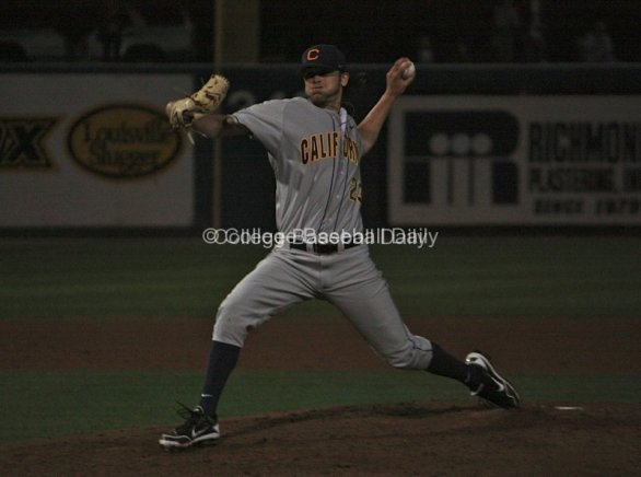 Cal ace Justin Jones pitches.
