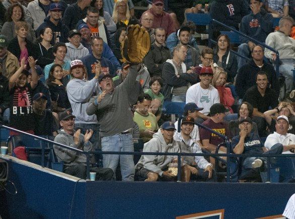 Fans break out the big mitt.
