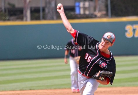 Michael Cederoth was chased in the fifth inning.