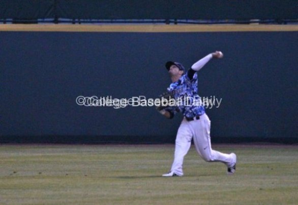 Louie Lechich fires a throw to third.