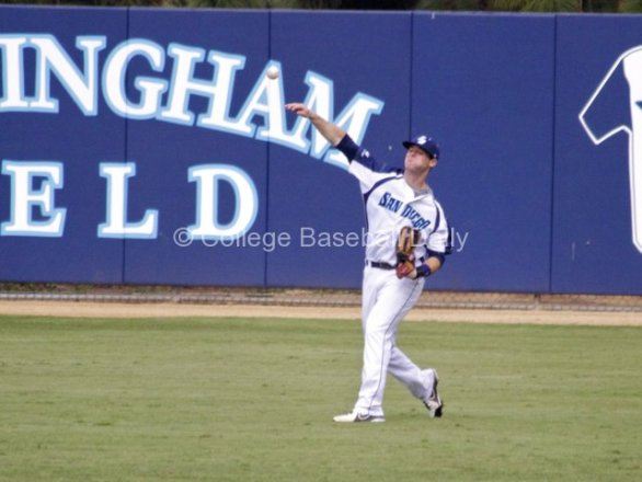 Josh Goossen-Brown throws one in.