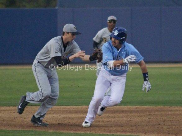 Hunter Mercado-Hood is chased down.
