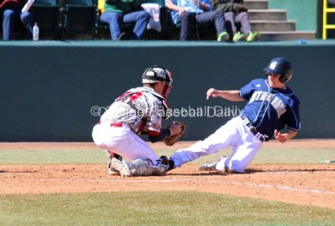 Lane Richards is out at the plate.