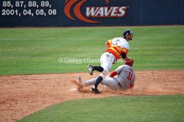 Joe Sever turns a double play