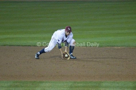 David Fletcher fields a grounder.