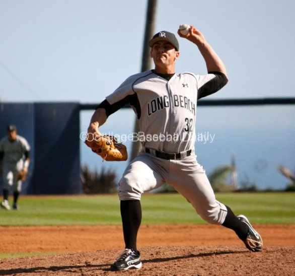 Jake Stassi delivers a fastball.