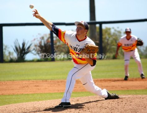 Pepperdine's Corey Miller pitches.