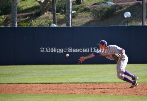 Cody Lenahan starts the game-ending double play.