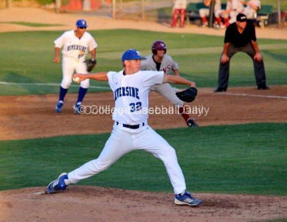 Gavin Mills throws.