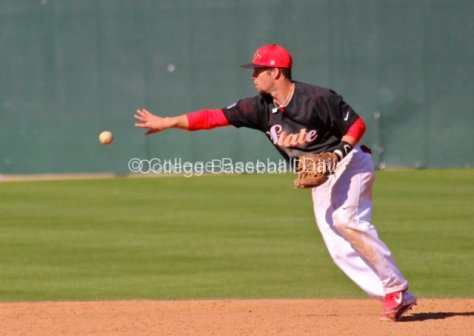 Tim Zier flips to second base.