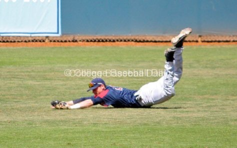 Royce Bolinger makes a diving