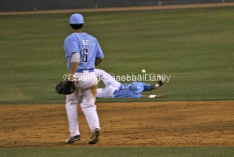 Austin Bailey can't keep the ball in the infield.