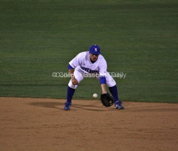 Eddie Young awaits a grounder