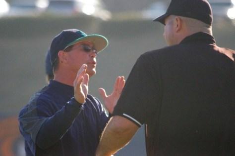 Mark Scalf can't believe a balk wasn't called.