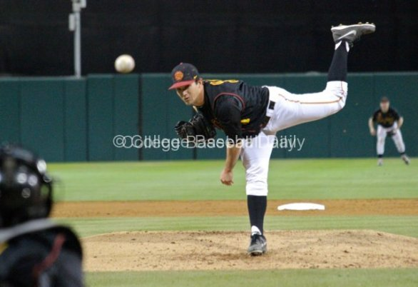 Sean Silva fires a pitch.