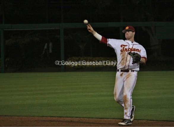Adam Landecker makes a play up the middle
