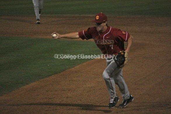 Matt Foat takes a ground ball himself