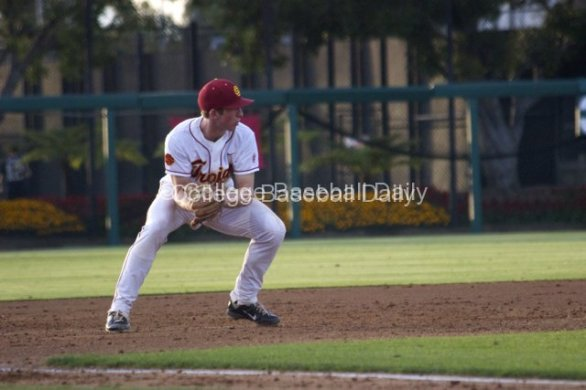 Kevin Swick starts the double play.