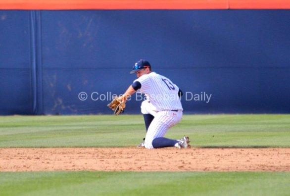 Timmy Richards makes a stop at shortstop.
