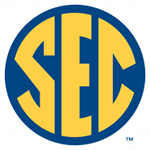 SEC Circle Gold Letters on White Background