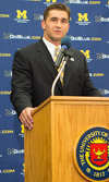 6/28/12 Press conference announcing new head baseball coach Erik Bakich.