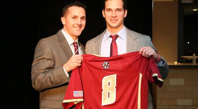 BC's Bourdon Selected to Honor Sonny Nictakis with No. 8
