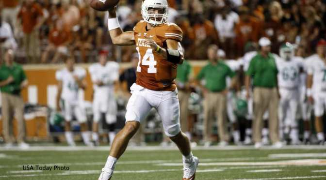Former Texas QB David Ash works out with Baseball Team