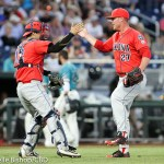 Arizona beat Coastal Carolina 3-0 in the first game of the College World Series finals at TD Ameritrade Park in Omaha, Neb. (Photo by Michelle Bishop)