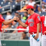 Arizona beat Oklahoma State 5-1 and advances to play Coastal Carolina for the NCAA national championship at TD Ameritrade Park in Omaha, Neb. (Photo by Michelle Bishop)