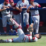 Kevin-Garcia-shows-the-ball-after-a-diving-catch-on-a-bunt-attempt