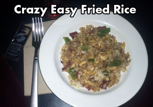 Insanely easy fried rice recipe