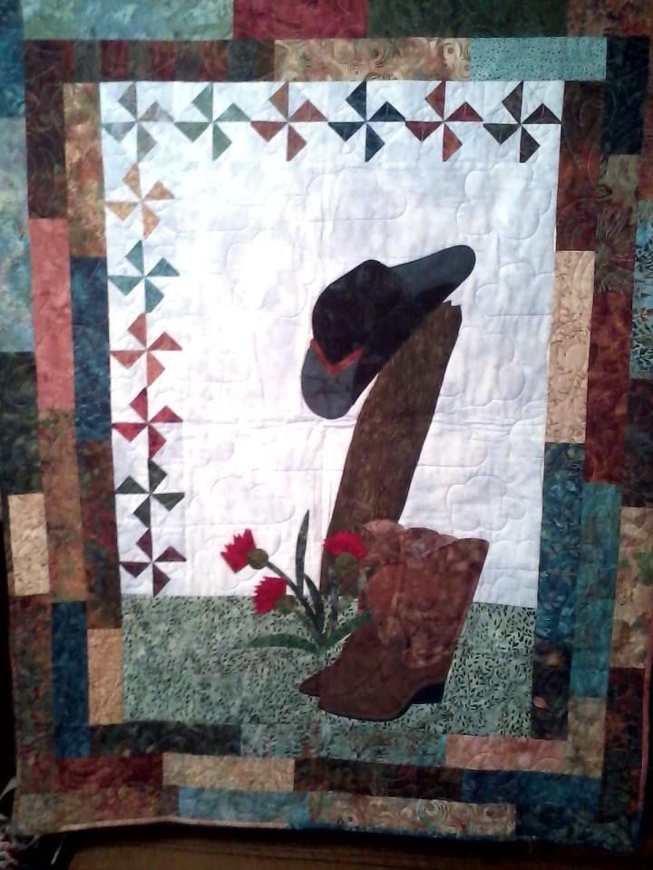 Hand made quilt made in Homer, Alaska