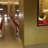Pasillos Auditorio con pavimento linoleum
