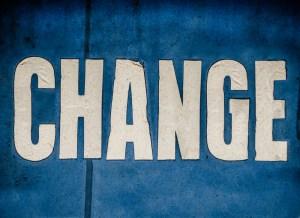 Change sign blue