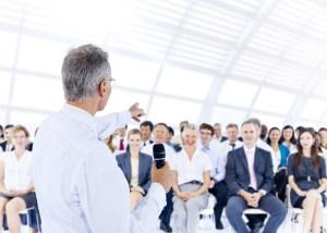 Man microphone audience