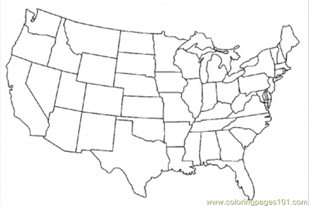 coloring pages map of united states of america (education