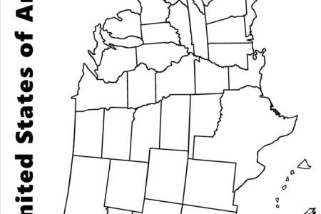 map of usa colouring pages
